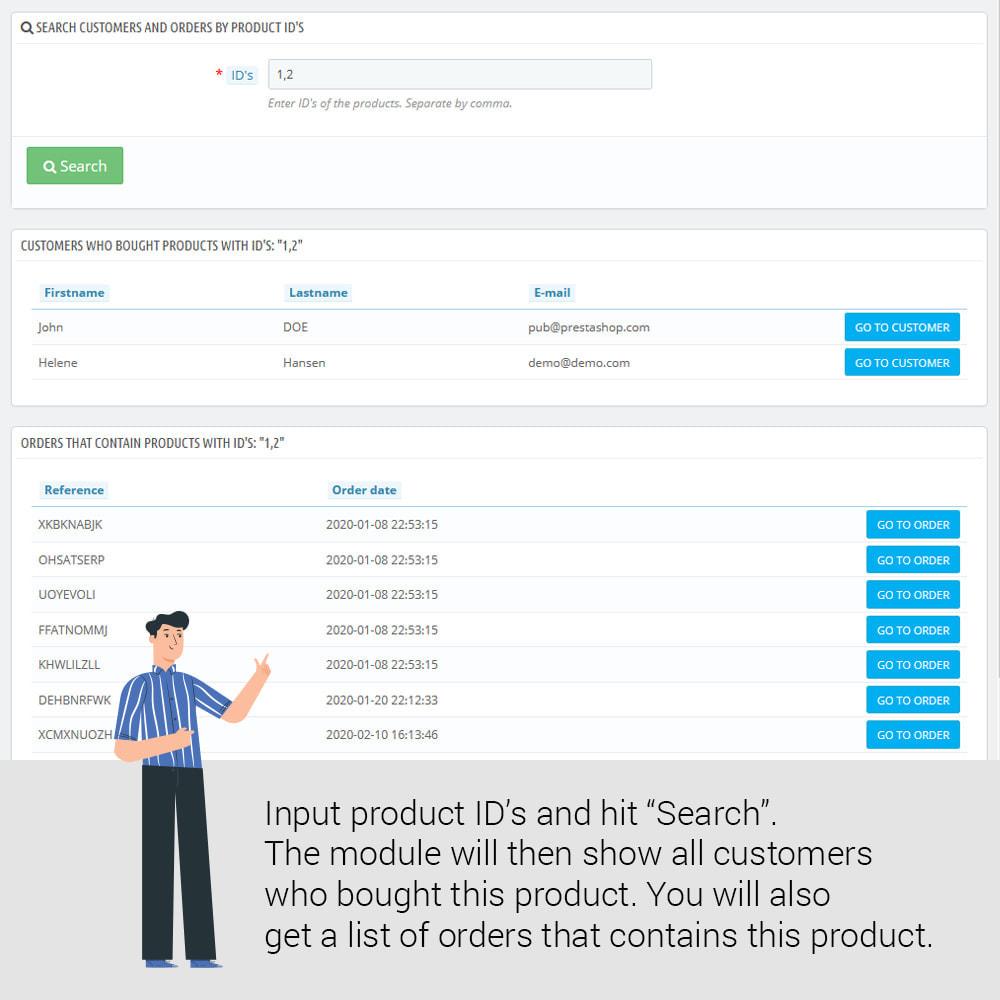 module - Zarządzanie klientami - Find customers who bought a product - 2
