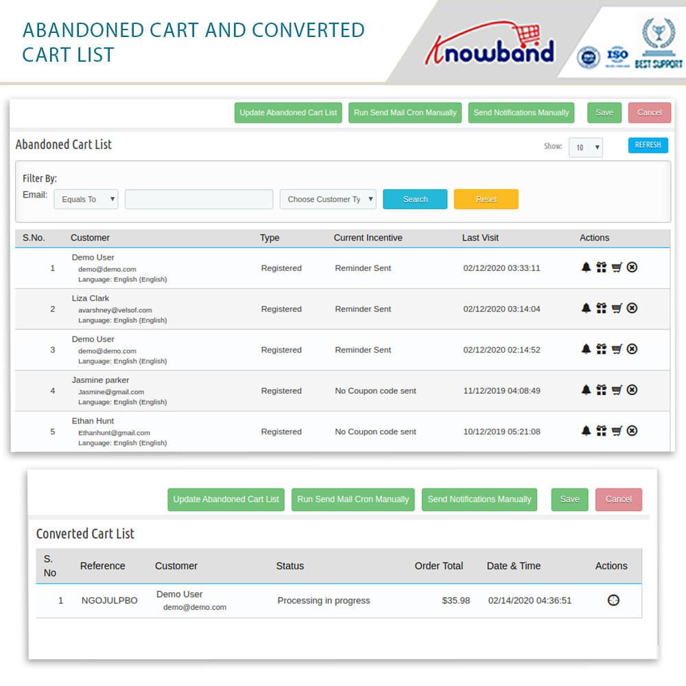 module - Remarketing & Carrelli abbandonati - Knowband-Reminder Periodici Carrello Abbandonato - 14