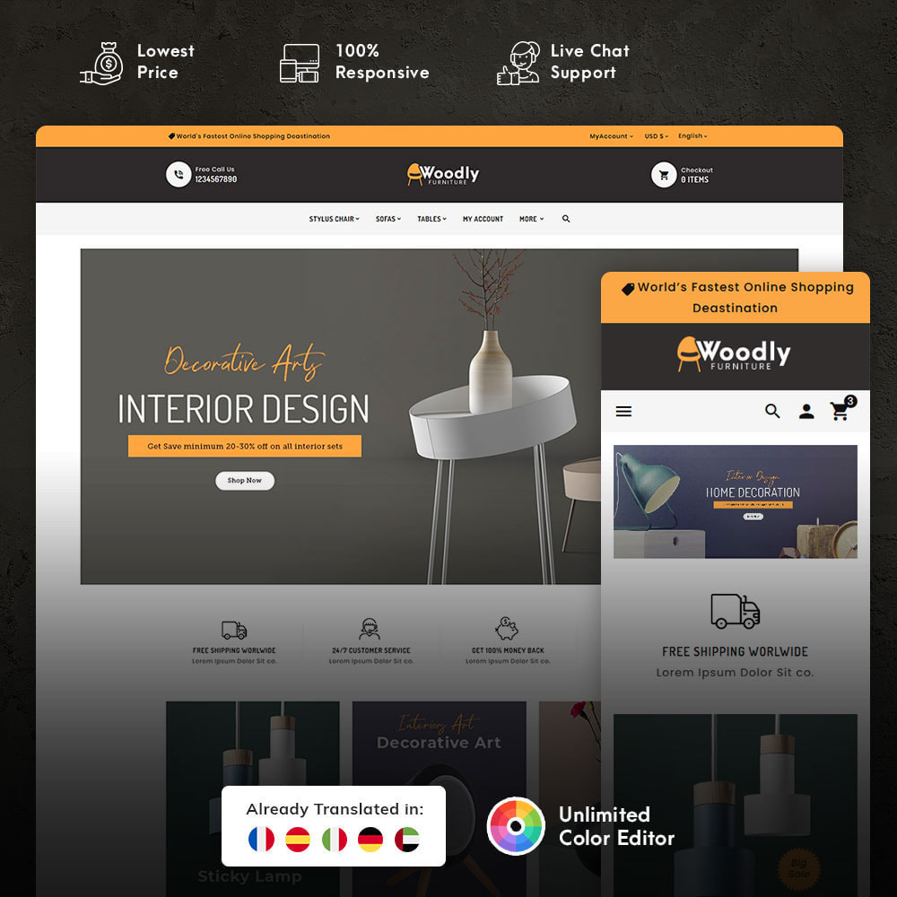 theme - Dom & Ogród - Woodly - Home Crafts & Furniture - 1