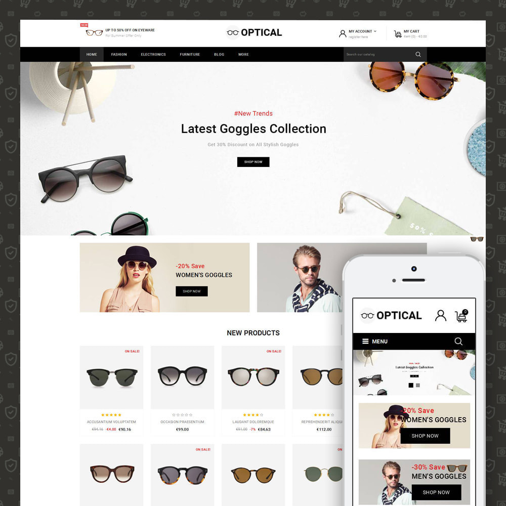 theme - Jewelry & Accessories - Optical - Goggles Store - 1