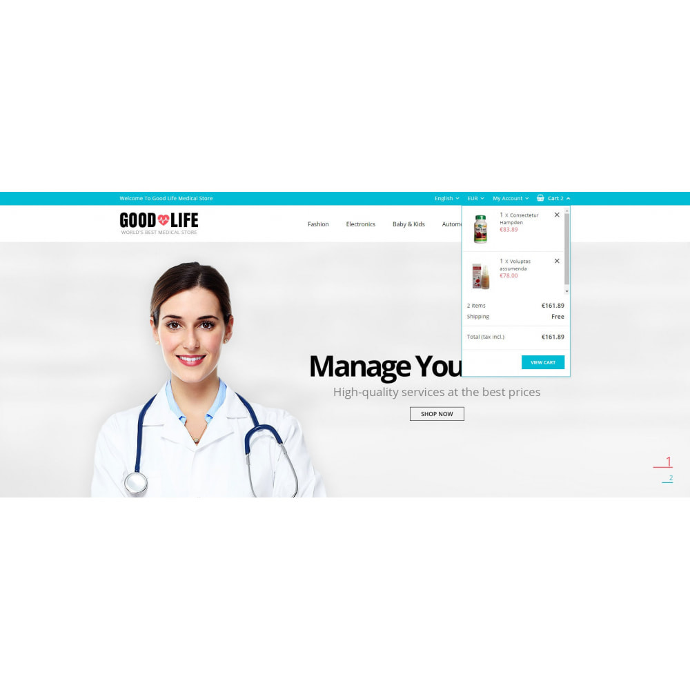 theme - Health & Beauty - Good Life - Medical Store - 6