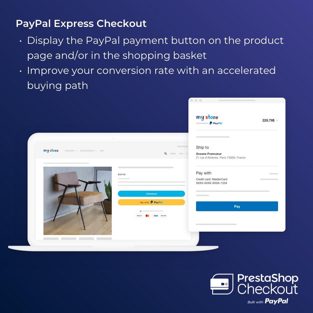 module - Zahlung per Kreditkarte oder Wallet - PrestaShop Checkout built with PayPal - 7