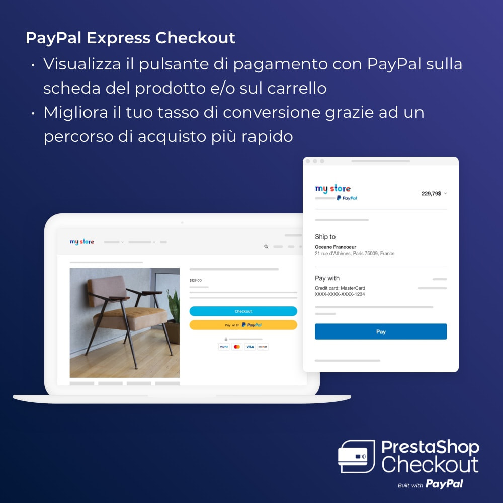 module - Pagamento con Carta di Credito o Wallet - PrestaShop Checkout built with PayPal - 7