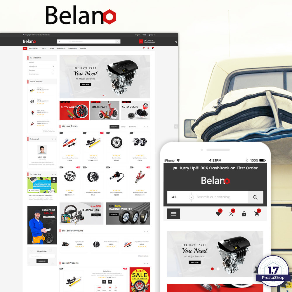 theme - Авто и Мото - Belano – AutoPart Super Store - 1