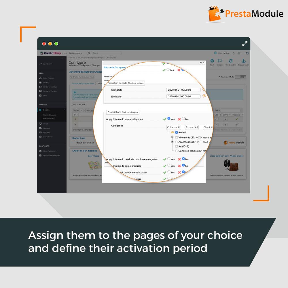 module - Personalizzazione pagine - Advanced Background Changer - 2