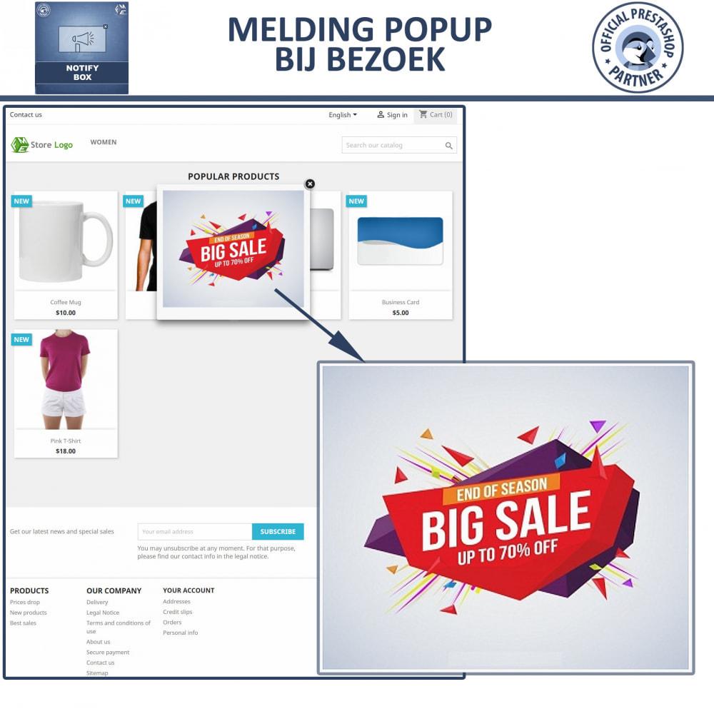 module - Dialoogvensters & Pop-ups - Pop-up Promo en Melding - 7