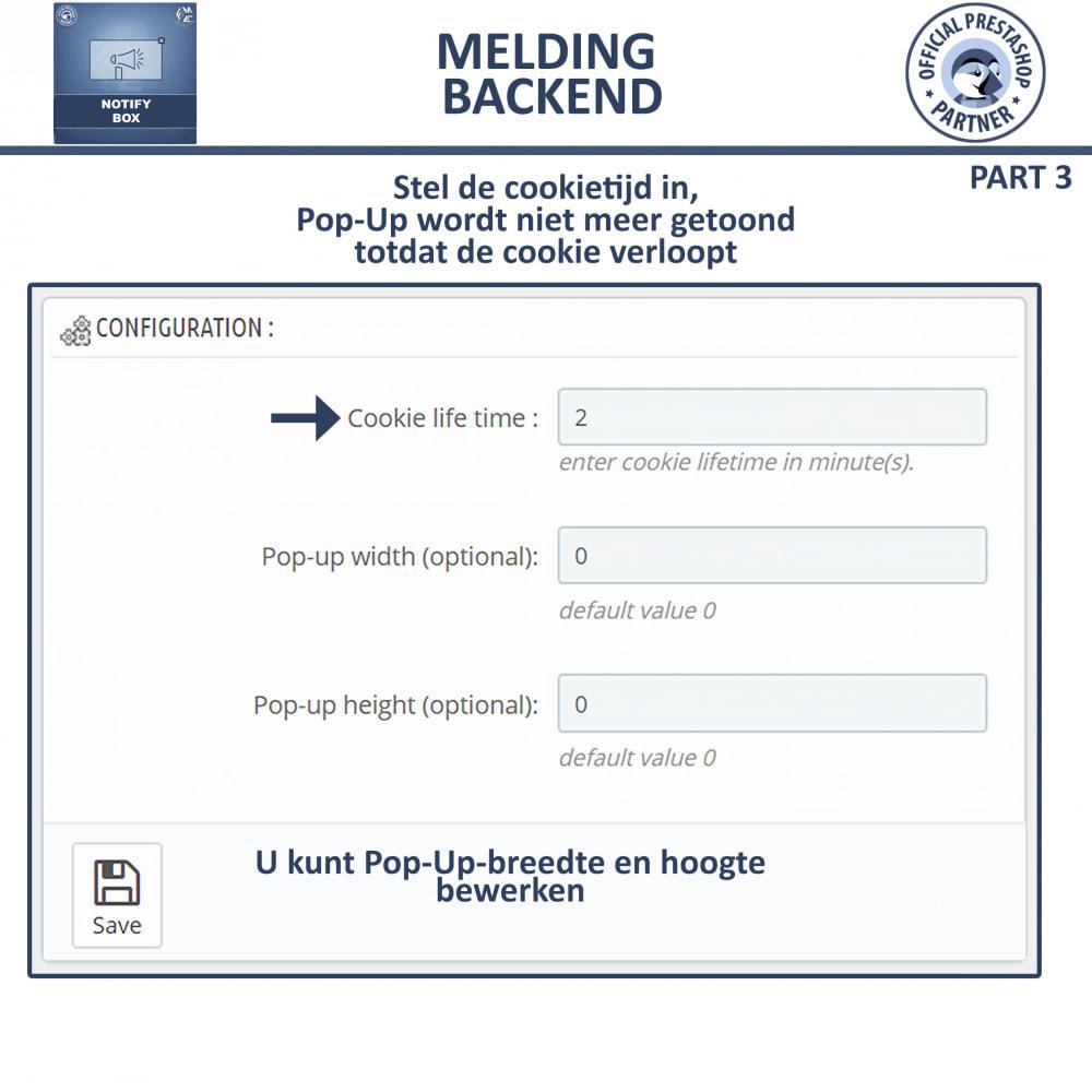 module - Dialoogvensters & Pop-ups - Pop-up Promo en Melding - 14
