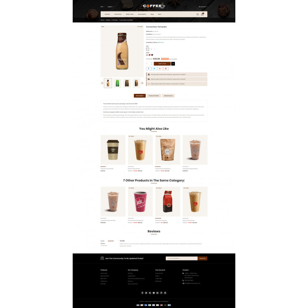 theme - PrestaShop Themen - Fresh Coffee Shop - 5