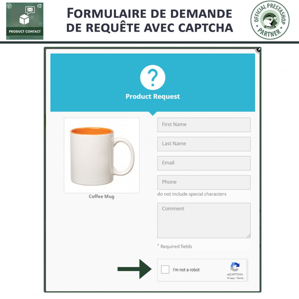 module - Formulaires de Contact & Sondages - Contact du produit  - Formulaire de Demande - 3