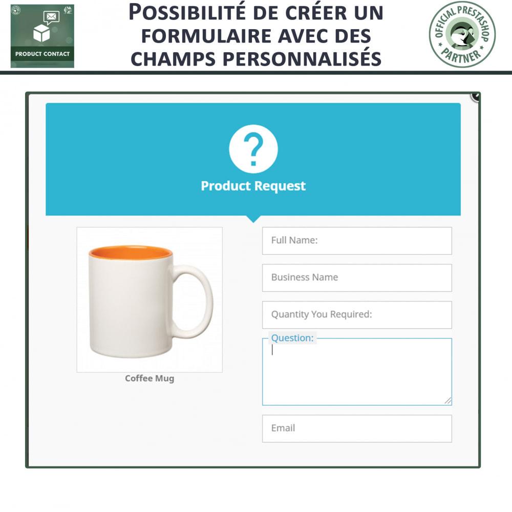 module - Formulaires de Contact & Sondages - Contact du produit  - Formulaire de Demande - 4