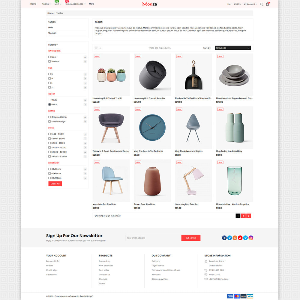 theme - Дом и сад - Modza - The Best Furniture Store - 3