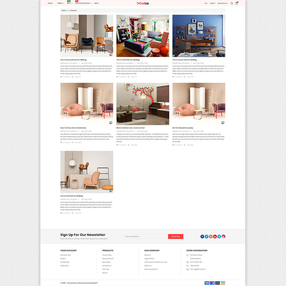 theme - Дом и сад - Modza - The Best Furniture Store - 6