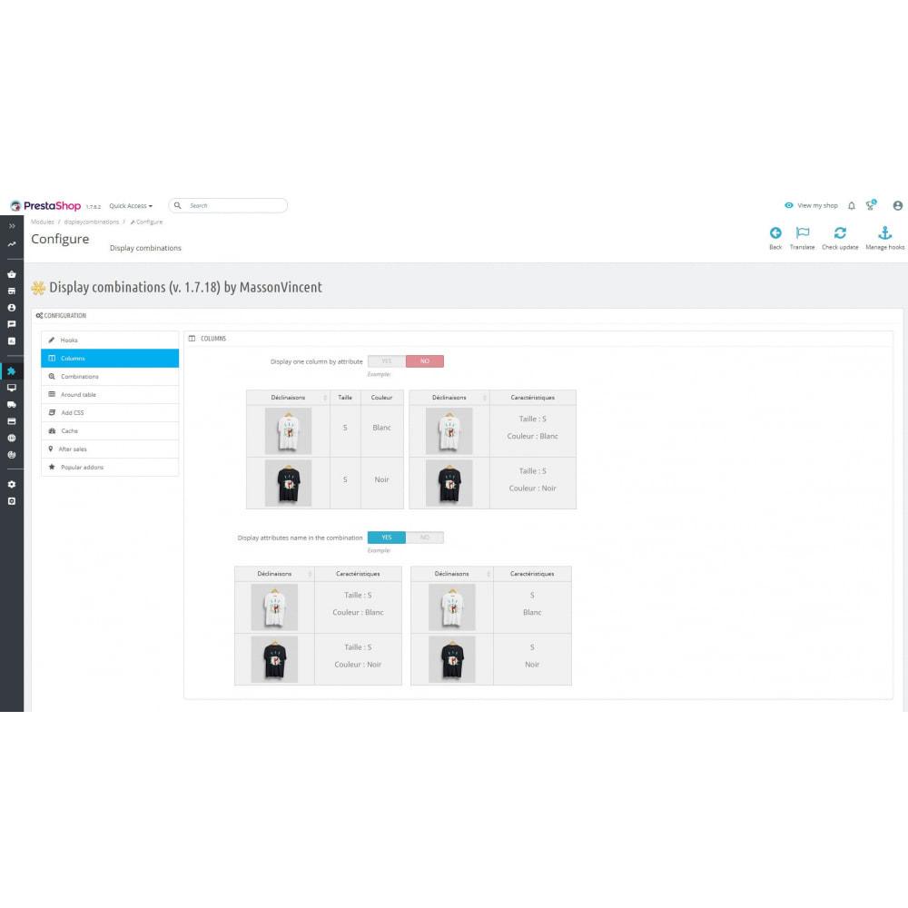 module - Deklinacje & Personalizacja produktów - List of combinations - 3