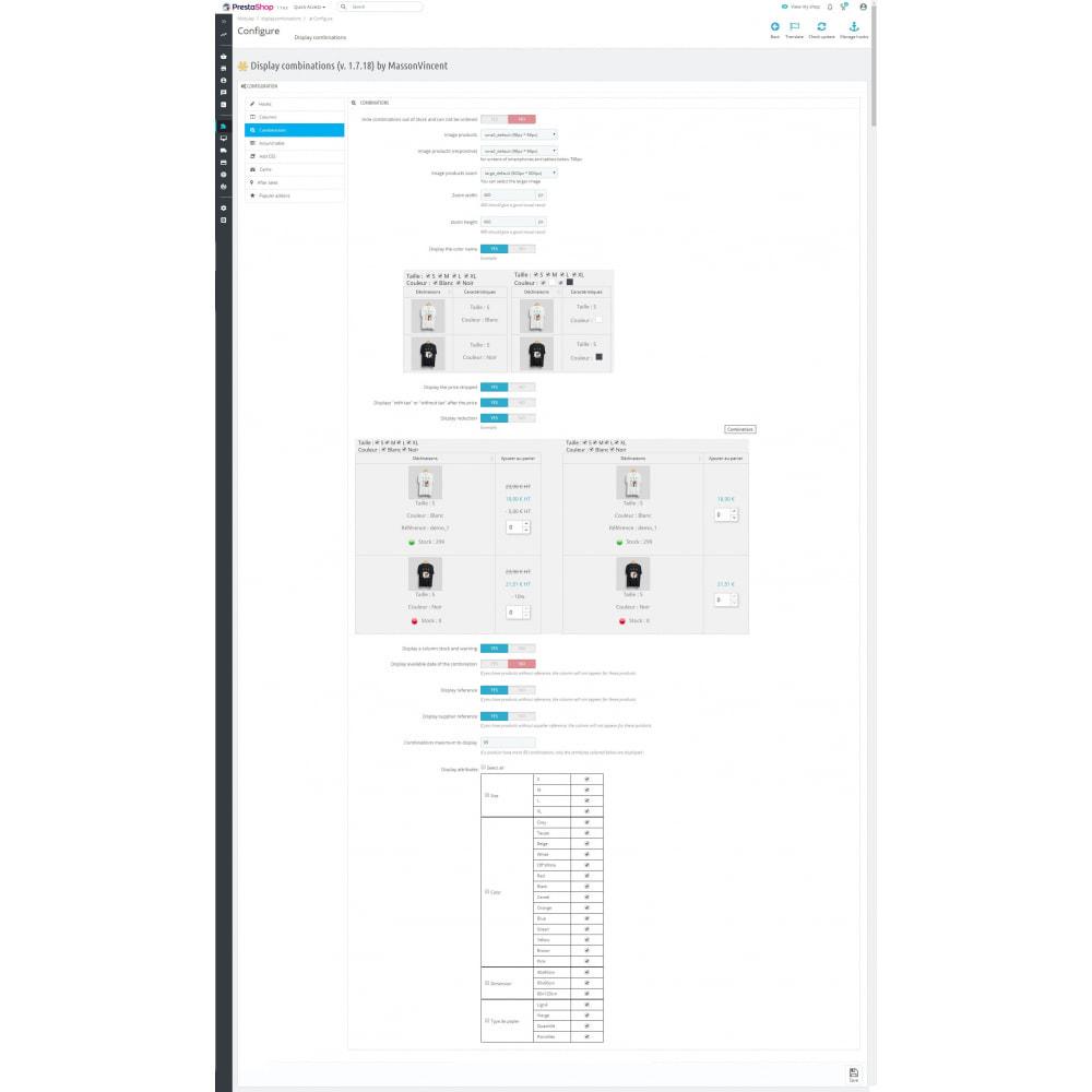 module - Deklinacje & Personalizacja produktów - List of combinations - 4