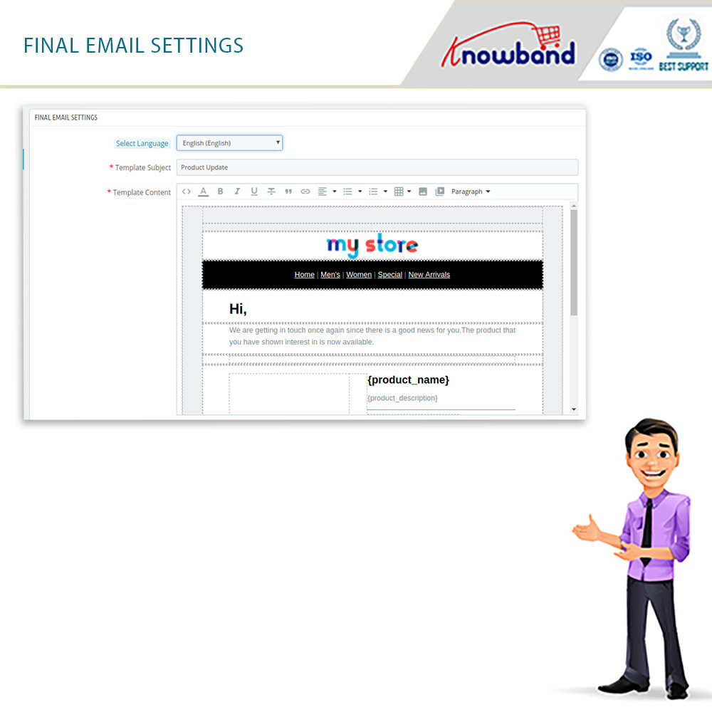 module - E-Mails & Benachrichtigungen - Knowband- Wieder-auf-Lager-Benachrichtigungen - 3