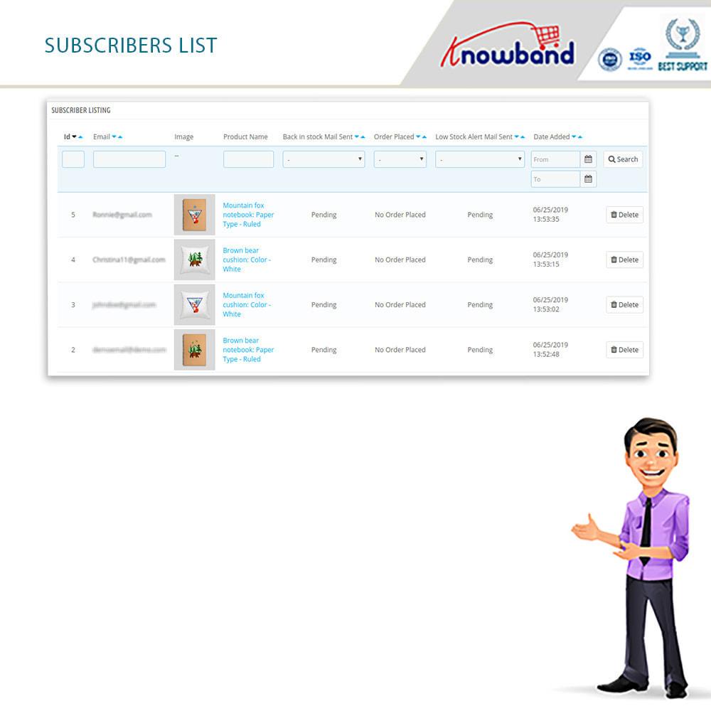 module - E-Mails & Benachrichtigungen - Knowband- Wieder-auf-Lager-Benachrichtigungen - 5