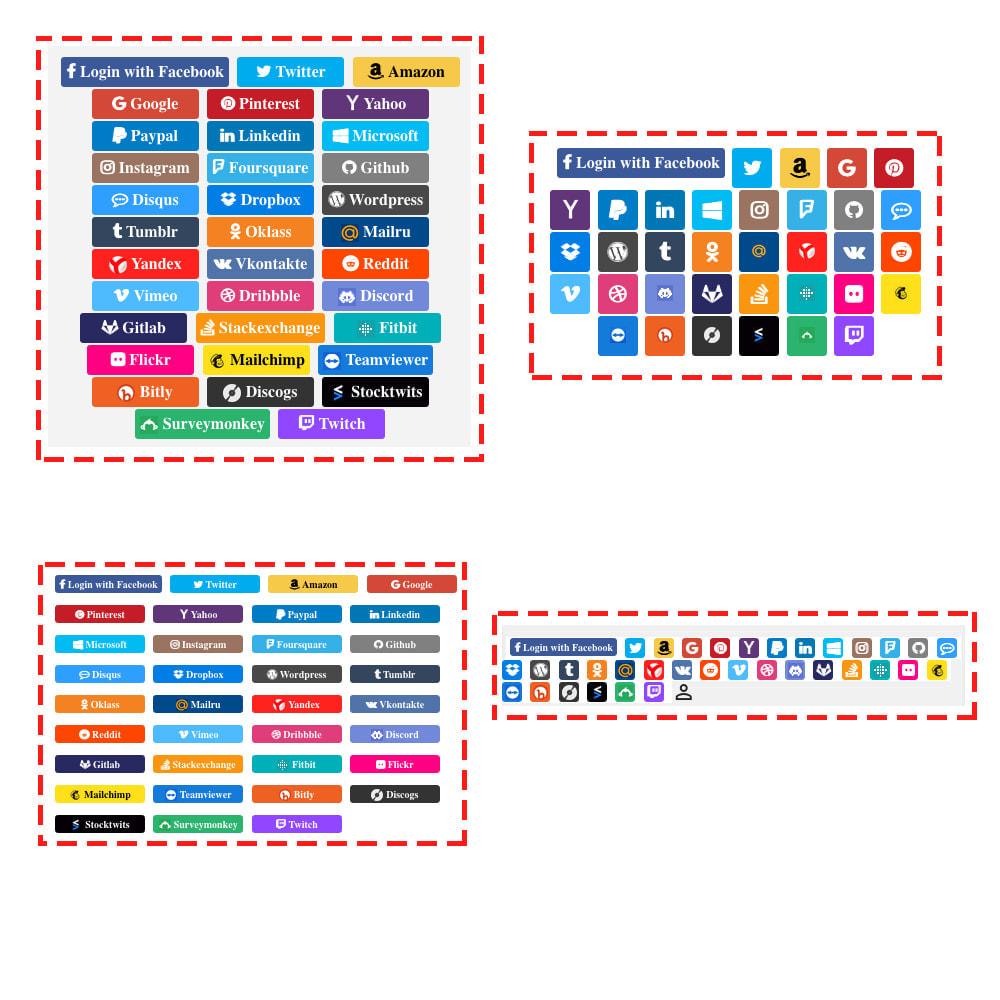 module - Login & Verbinden - Social Login Connect 35 in 1, MailChimp, Statistics - 10