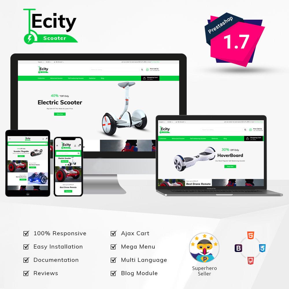 theme - Шаблоны PrestaShop - Ecity Scooter Store - 1