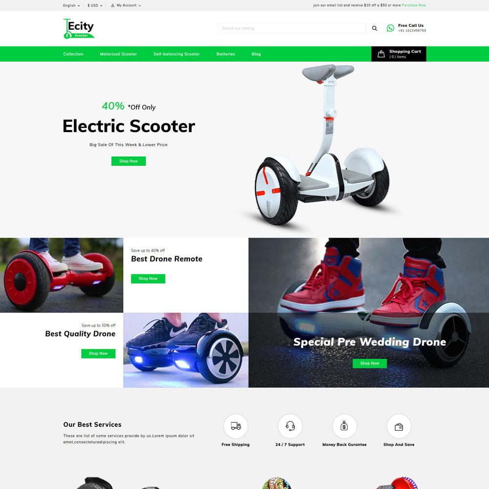 theme - Шаблоны PrestaShop - Ecity Scooter Store - 2