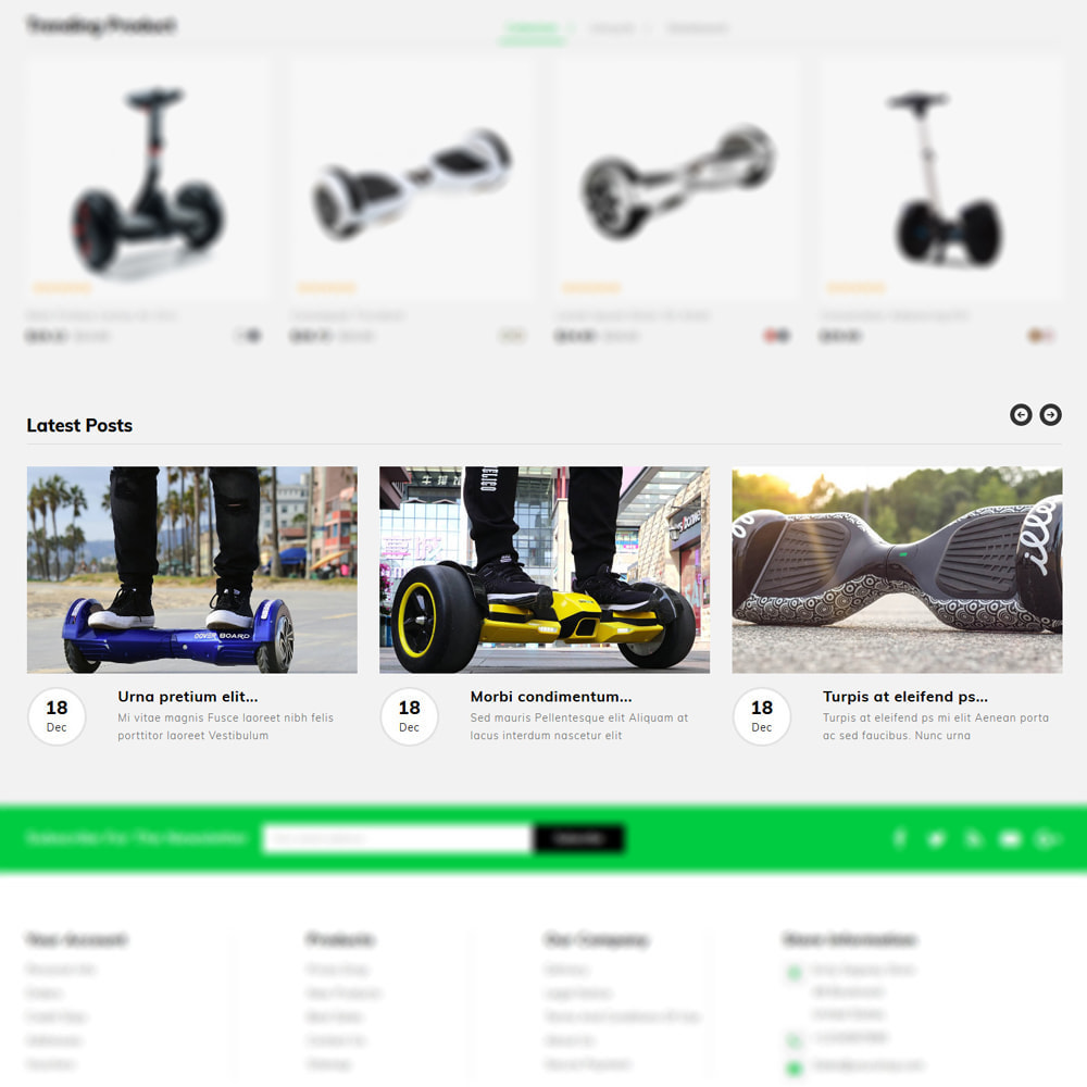 theme - Шаблоны PrestaShop - Ecity Scooter Store - 5