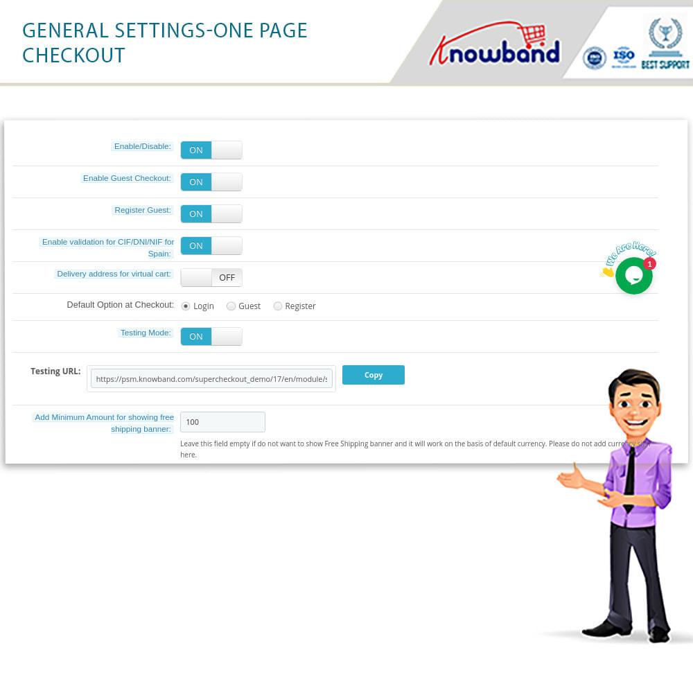 module - Processo de pedido - Checkout de Uma Página,Login Social &Mailchimp - 11