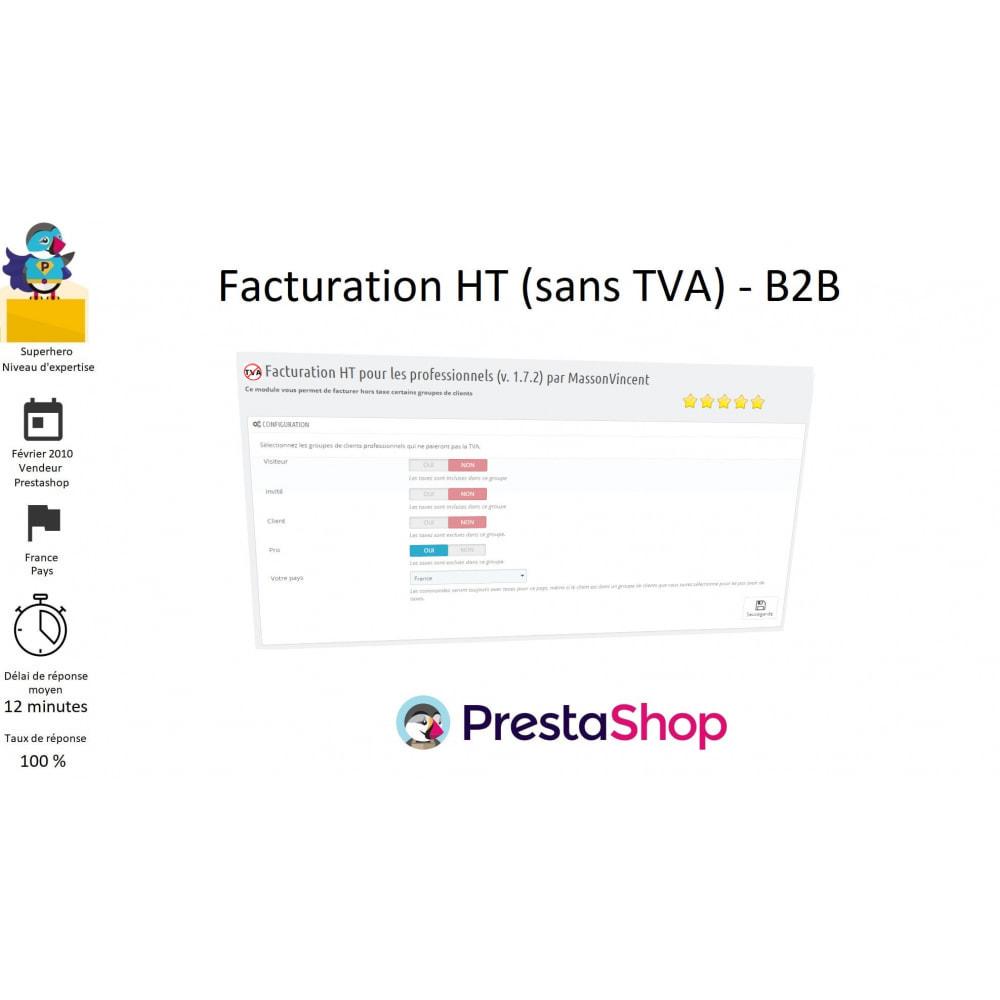 module - B2B - Facturation HT (sans TVA) - B2B - 1
