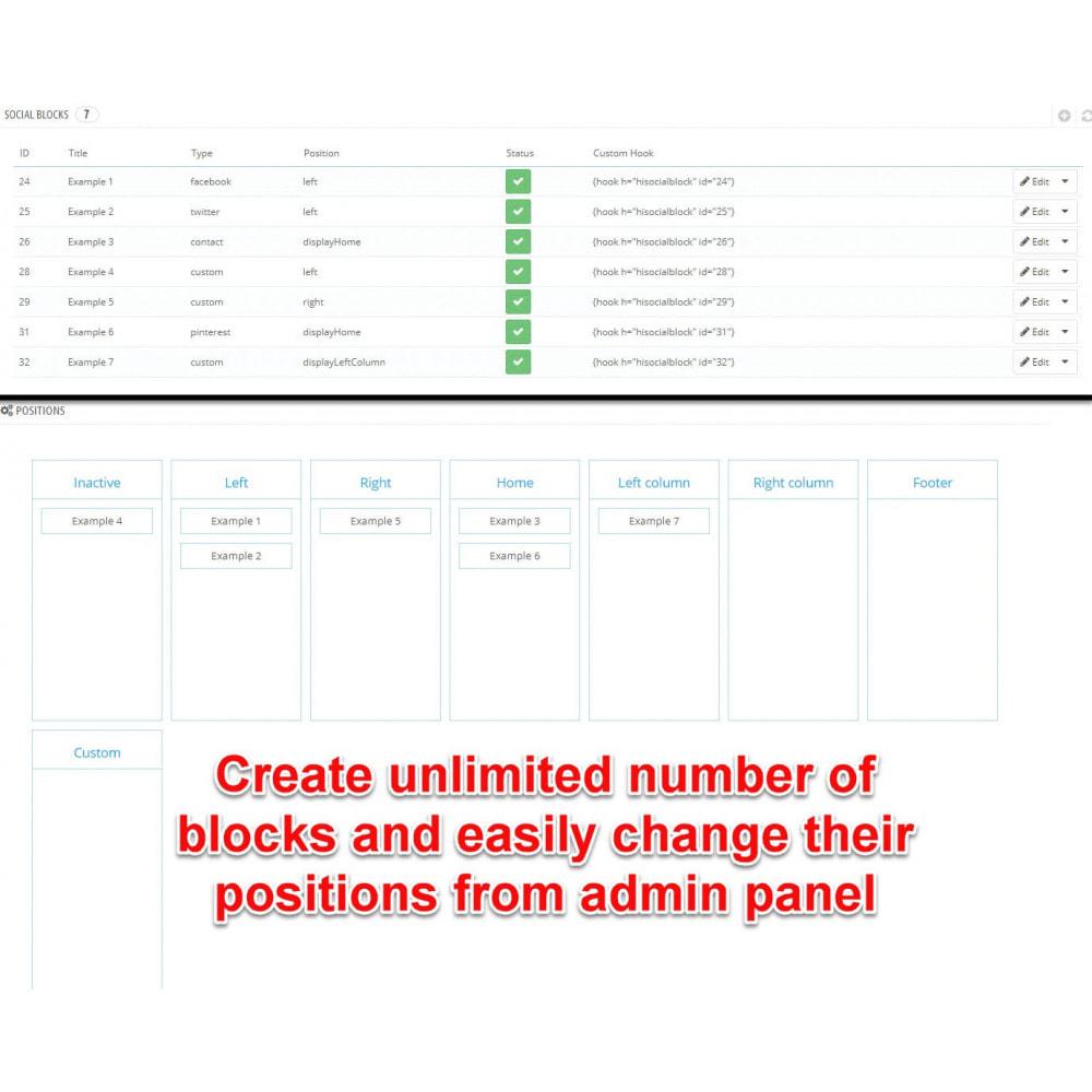 module - Social Widget - Social Widgets (8 in 1) - 8