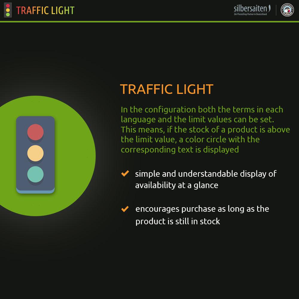module - Informaciones adicionales y Pestañas - Función de semáforo - Disponibilidad del producto - 1