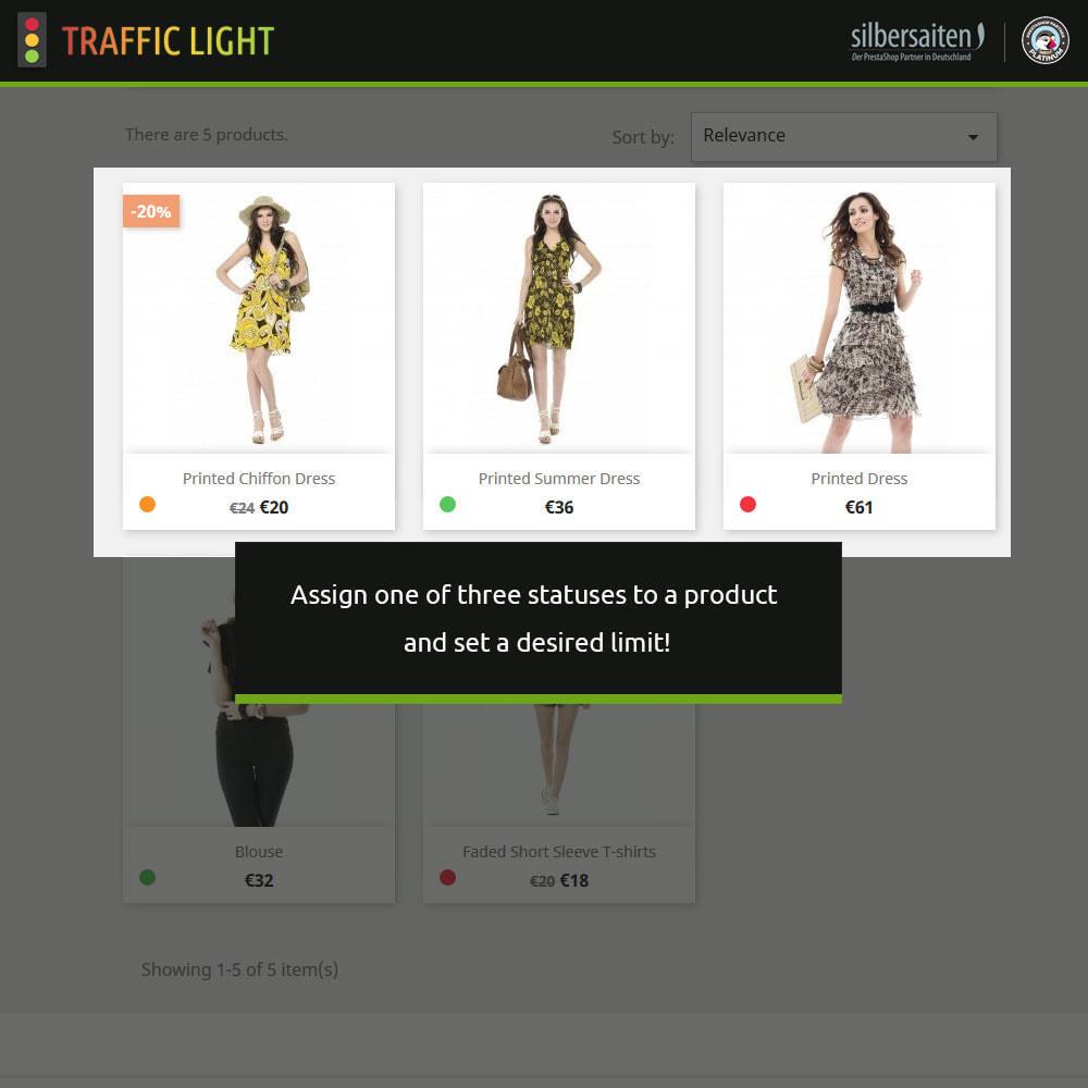 module - Informaciones adicionales y Pestañas - Función de semáforo - Disponibilidad del producto - 2