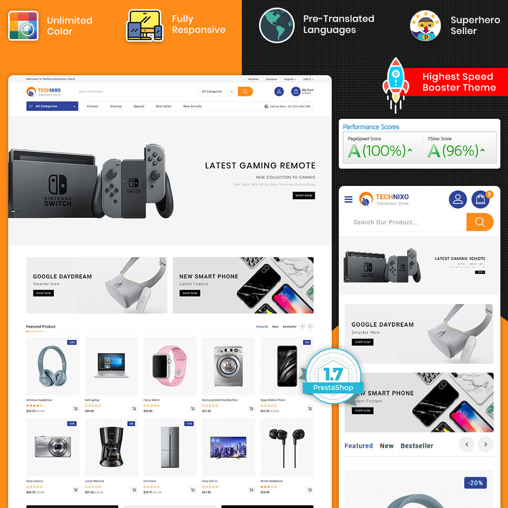 theme - Elektronik & High Tech - Trandnix - Multi Purpose Super Mega Store - 1