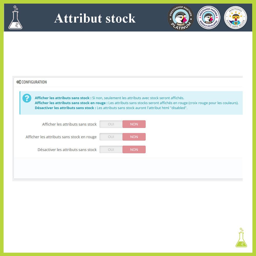 module - Déclinaisons & Personnalisation de produits - Affichage de déclinaisons/attributs avec stock - 1