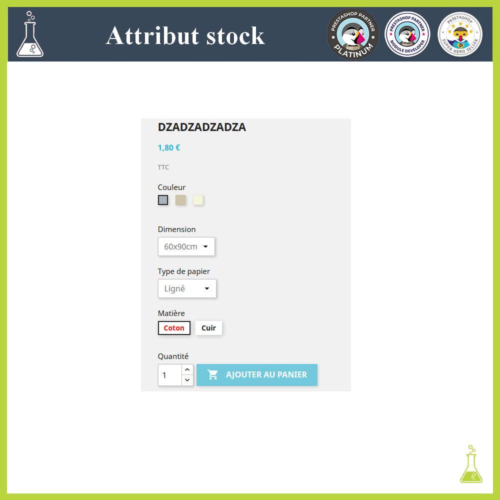 module - Déclinaisons & Personnalisation de produits - Affichage de déclinaisons/attributs avec stock - 3