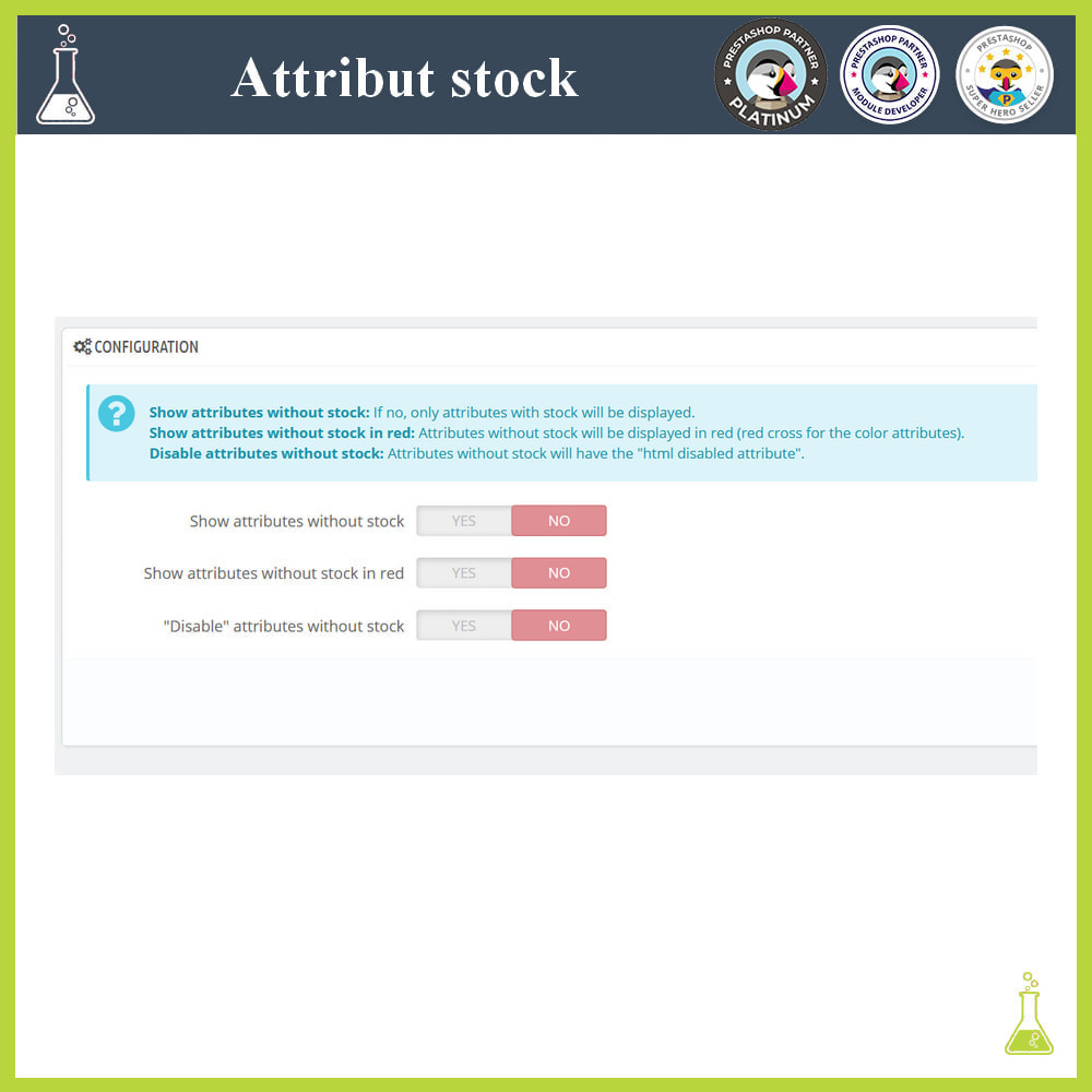 module - Combinations & Product Customization - Display of combinations/attributes with stock - 1