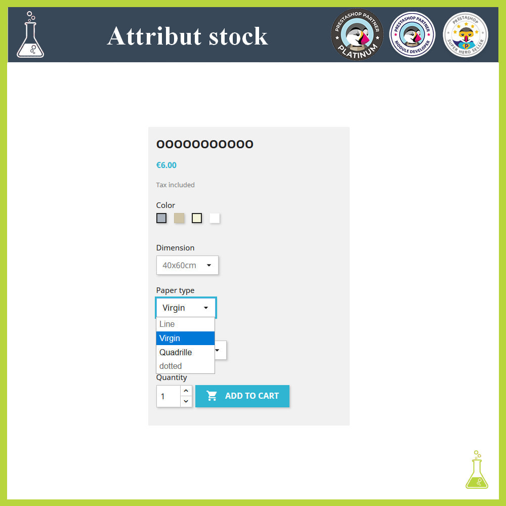 module - Combinations & Product Customization - Display of combinations/attributes with stock - 4