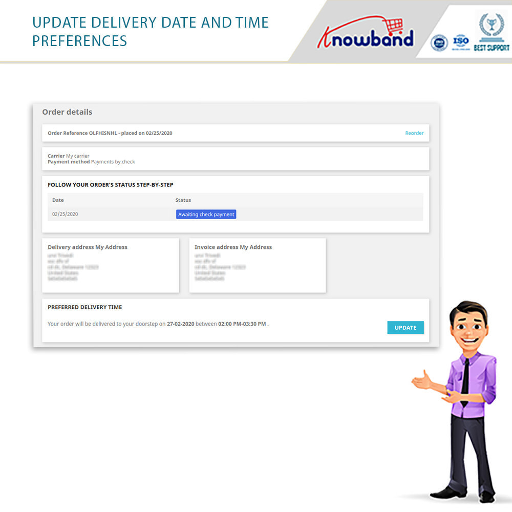 module - Дата доставки - Knowband - Preferred Delivery Time - 8
