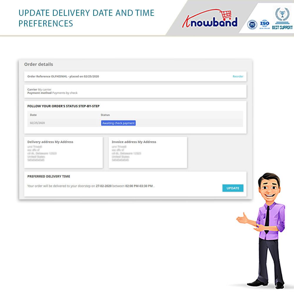 module - Fecha de entrega - Knowband - Tiempo de Entrega Preferido - 12
