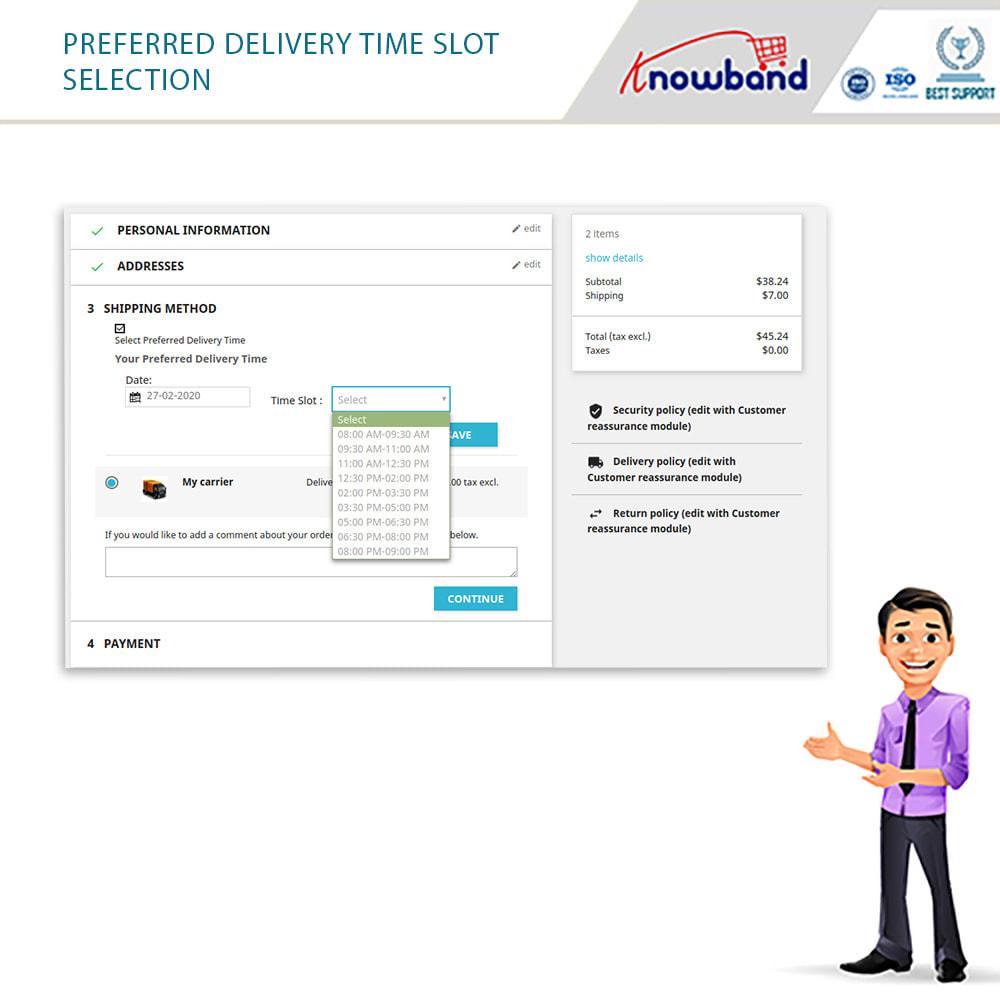 module - Fecha de entrega - Knowband - Tiempo de Entrega Preferido - 10