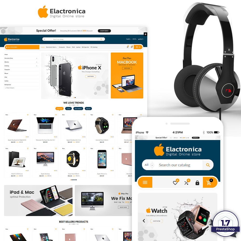 theme - Electronique & High Tech - Electronica – Electronic Multipurpose Store - 1