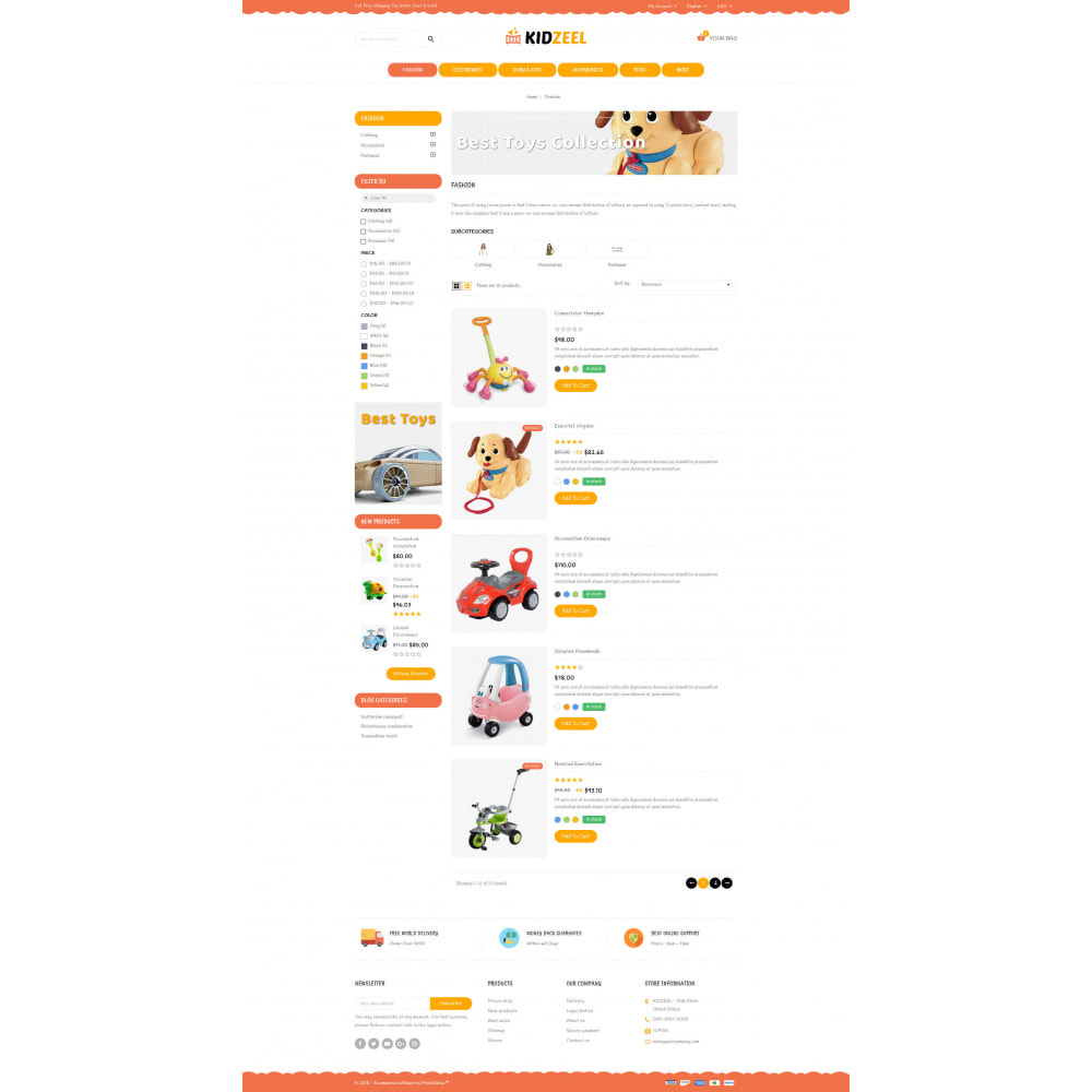 theme - Kids & Toys - KidZeel - Toys Store - 4