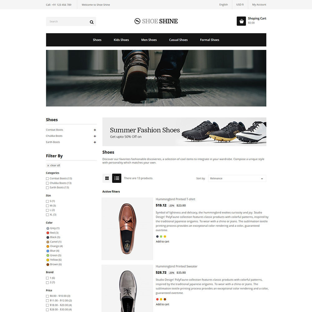 theme - Template PrestaShop - Shoes Slippers  - Accessories Casual Shoes Store - 4
