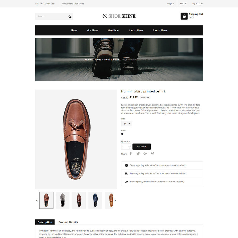 theme - Template PrestaShop - Shoes Slippers  - Accessories Casual Shoes Store - 5