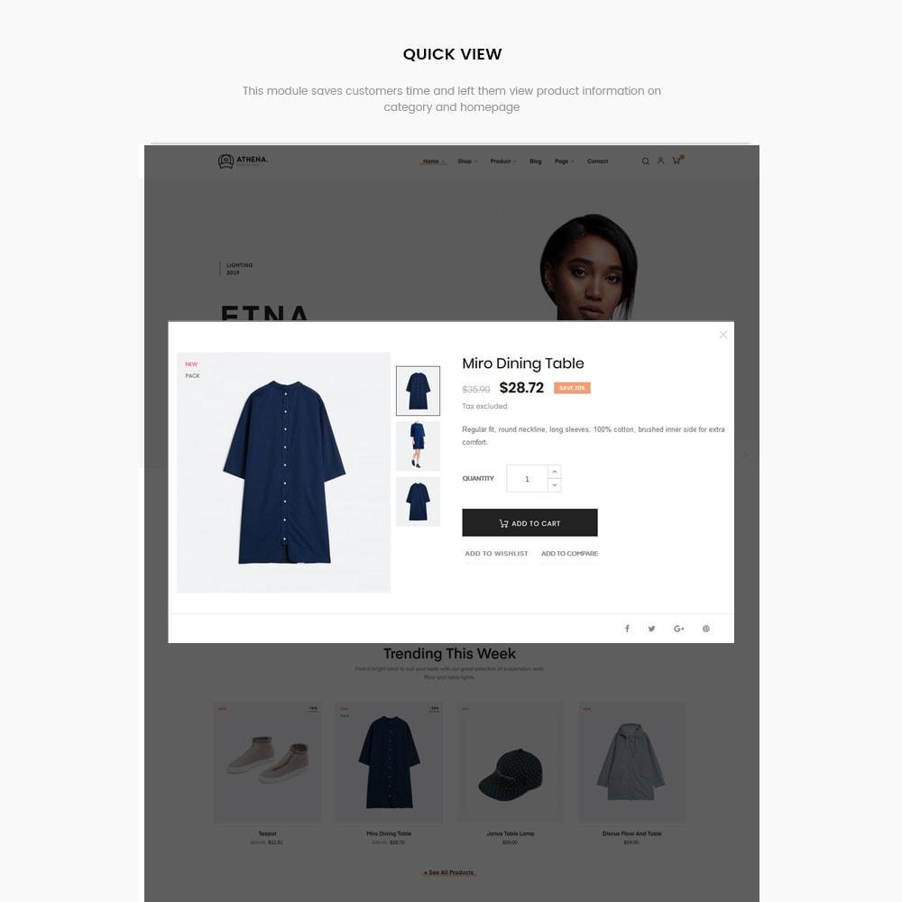 theme - PrestaShop Templates - Athena Fashion - Clothes & Shoes, Jewelry - 5