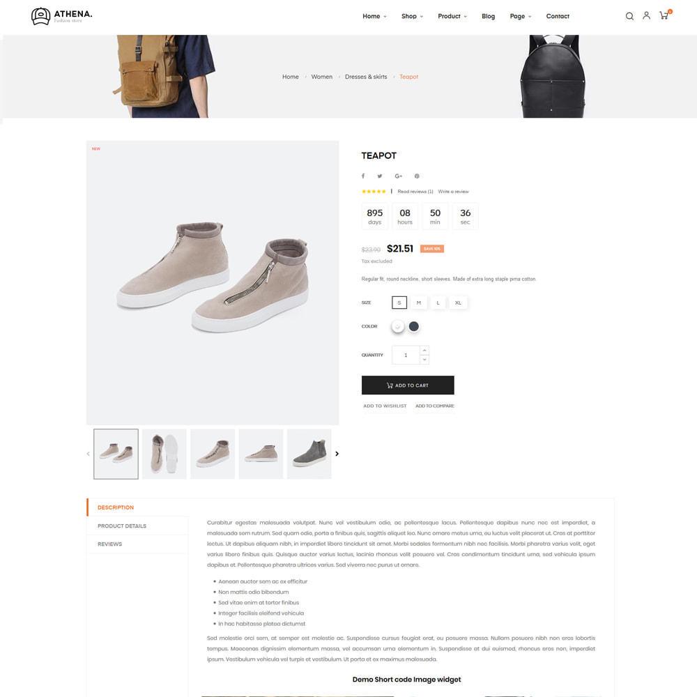 theme - PrestaShop Templates - Athena Fashion - Clothes & Shoes, Jewelry - 8