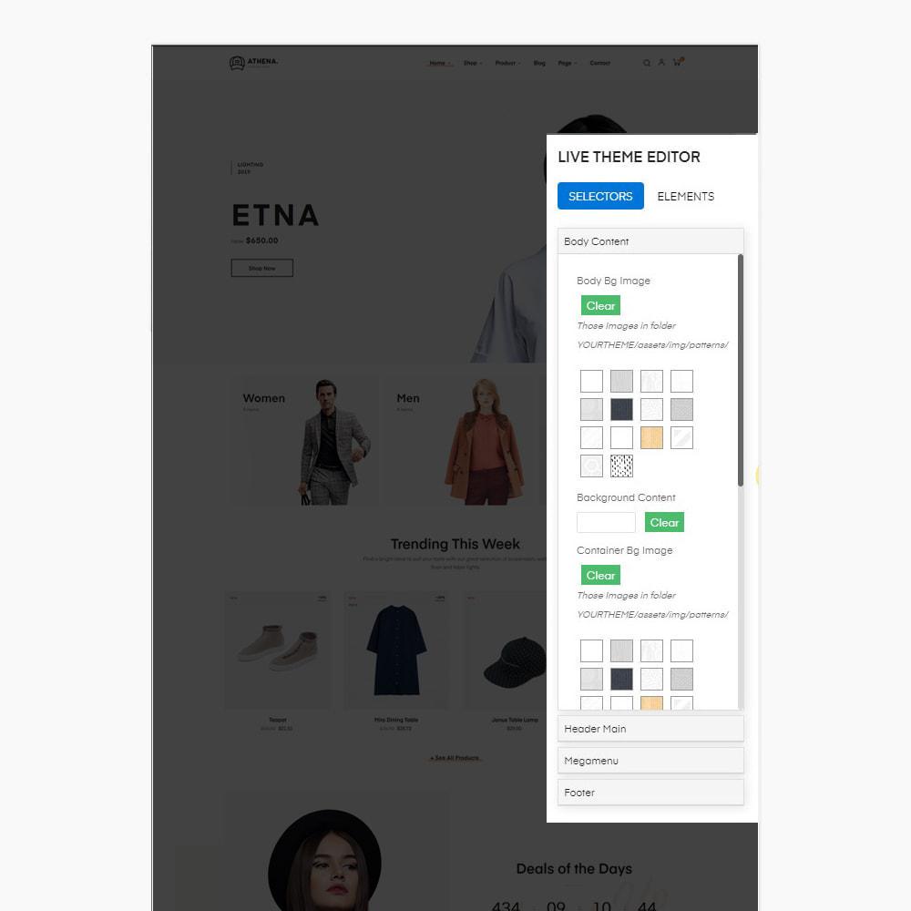 theme - PrestaShop Templates - Athena Fashion - Clothes & Shoes, Jewelry - 9