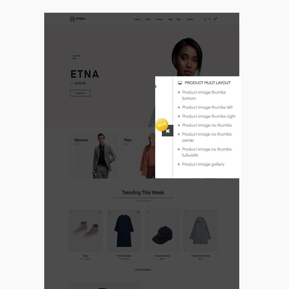 theme - PrestaShop Templates - Athena Fashion - Clothes & Shoes, Jewelry - 11
