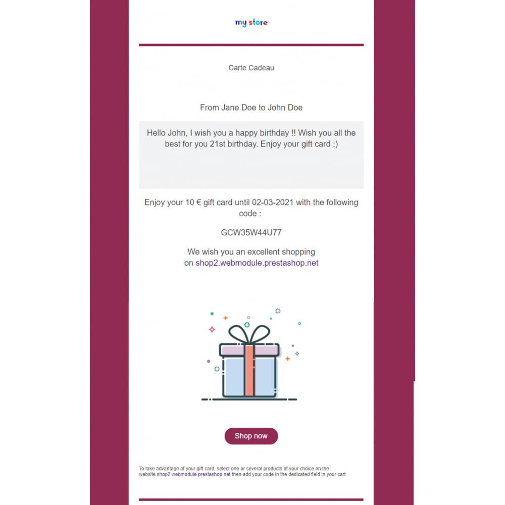 module - Wunschzettel & Geschenkkarte - Premium-Geschenkkarte 1.6 - 1.7 - 2