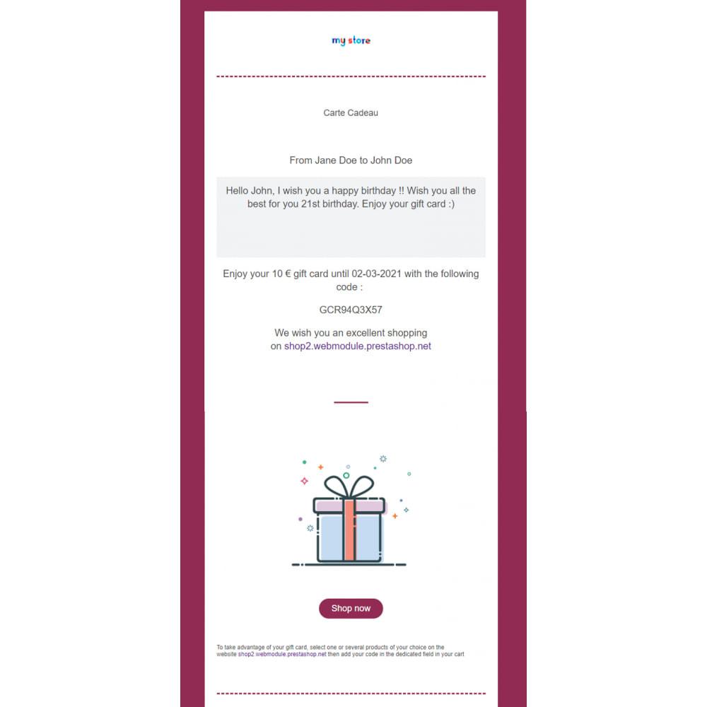 module - Wunschzettel & Geschenkkarte - Premium-Geschenkkarte 1.6 - 1.7 - 4