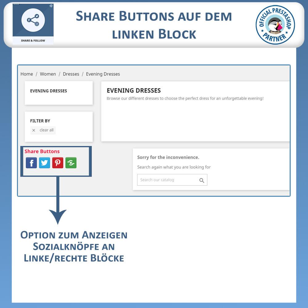 module - Teilen & Kommentieren - Teilen und folgen - Social Widget - 3