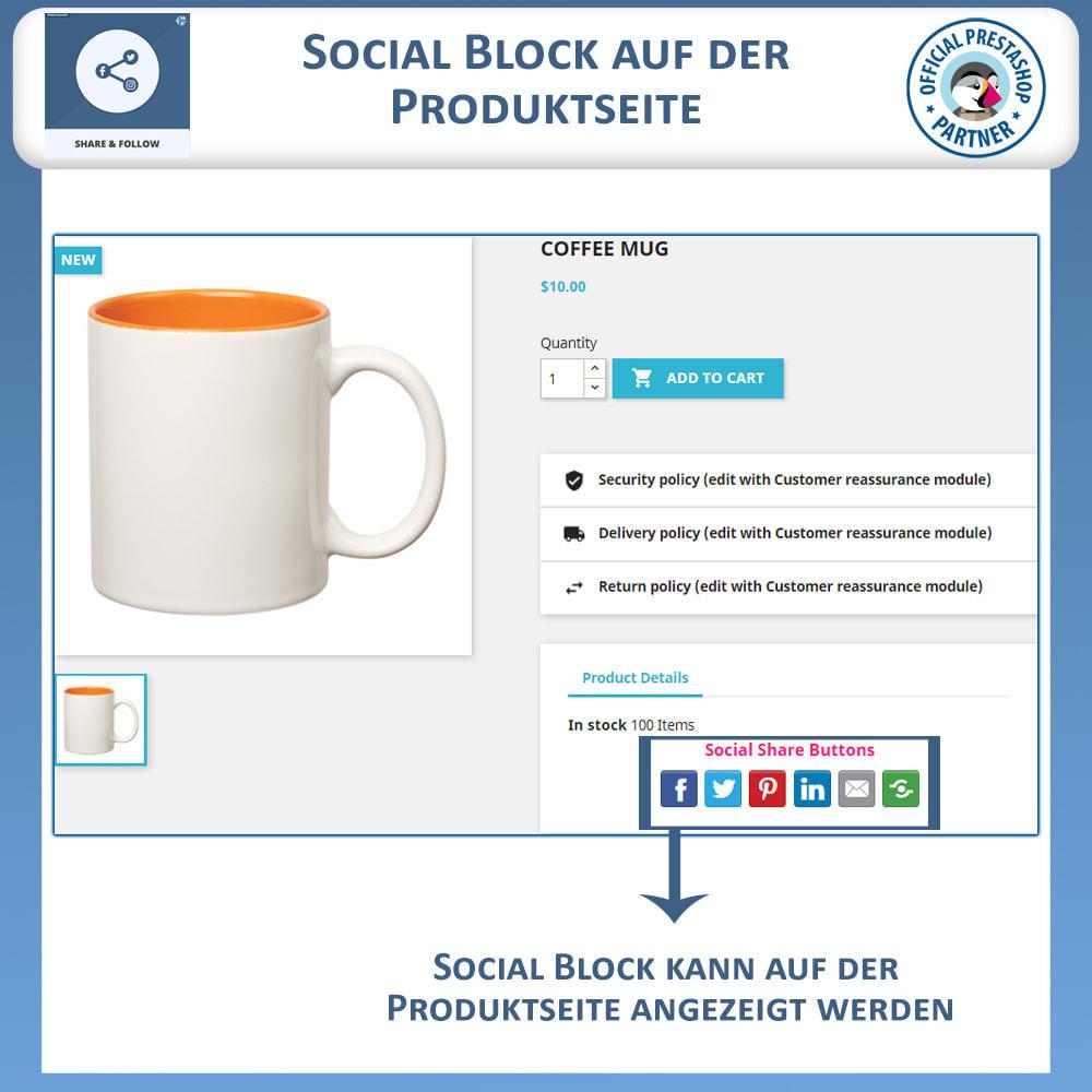 module - Teilen & Kommentieren - Teilen und folgen - Social Widget - 4