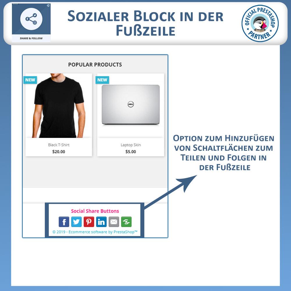 module - Teilen & Kommentieren - Teilen und folgen - Social Widget - 5